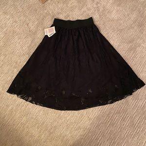Lularoe Black Lace Lola Skirt NWT